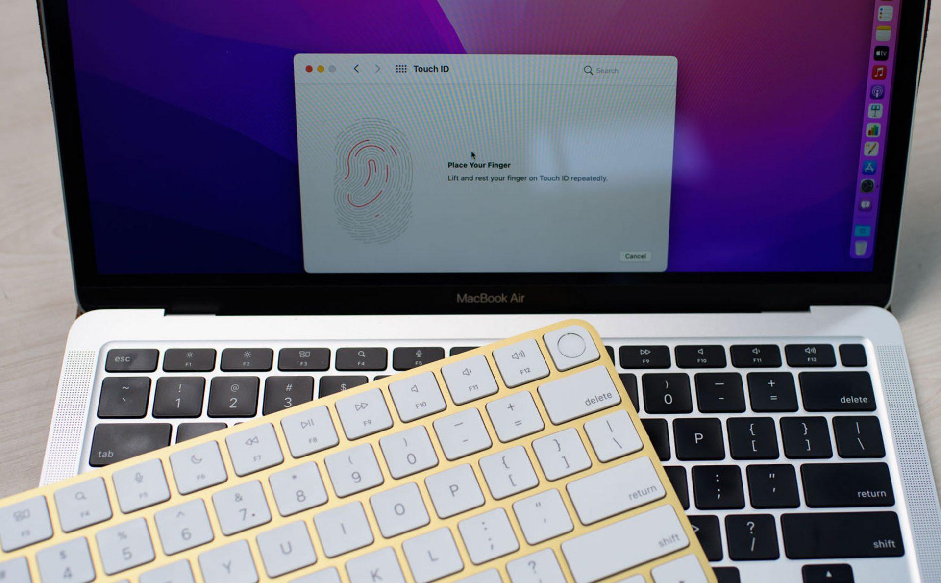 Kết nối Magic Keyboard có Touch ID dùng trên Macbook M1