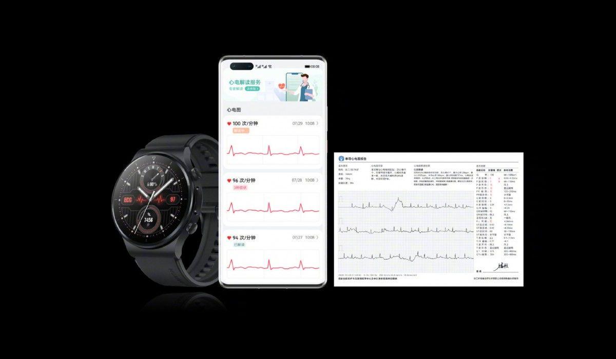 Huawei cùng lúc ra mắt đồng hồ Watch GT 2 Pro ECG và vòng tay Band 6 Pro